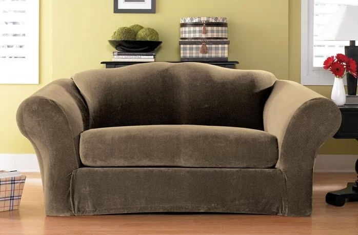sure fit stretch pique 3 piece t cushion sofa slipcover cheap leather uk box reviews wayfair