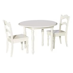 3 piece table and chair set with backrest kids sets joss main anton