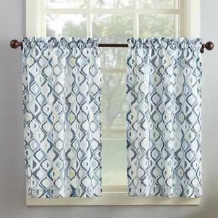 kitchen swags graff faucets blue gingham curtains wayfair barker curtain