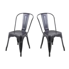 Silver Metal Dining Chairs Round Seat Cushions For Wicker Pewter Kitchen Chair Wayfair Quickview