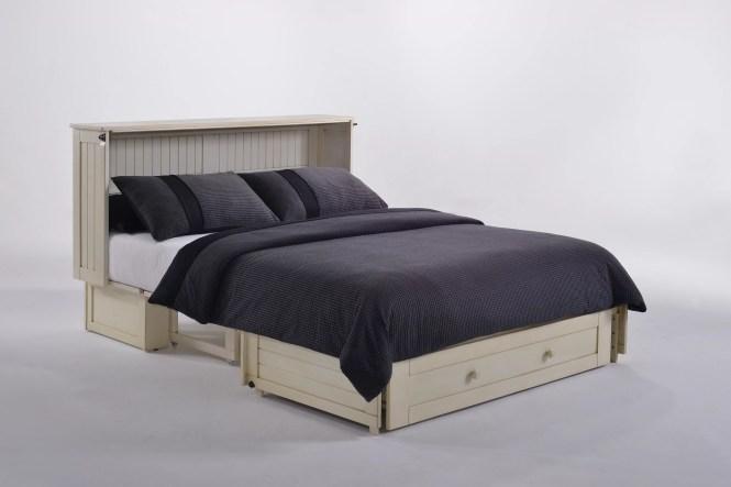 Night Day Shaker Queen Storage Murphy Bed With Mattress Reviews Wayfair