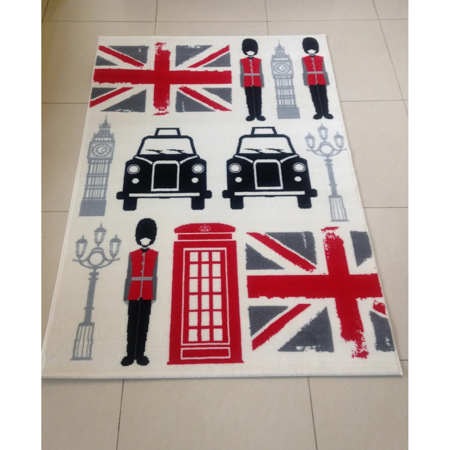 Teppich Union Jack Vintage Hokku Designs Teppich Union Jack And London In Bunt Wayfair De