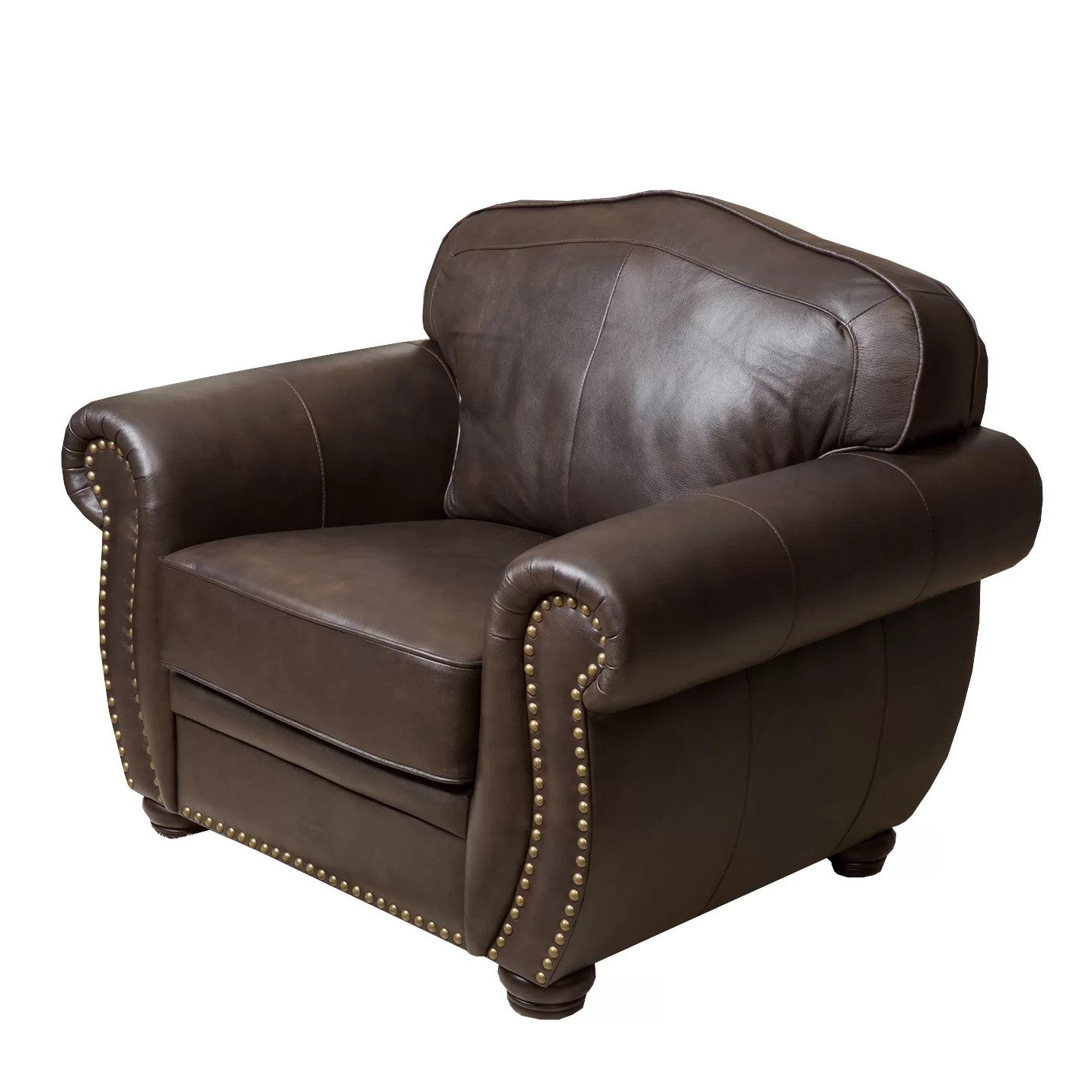 Chair And Ottoman Kenton Leather Arm Chair And Ottoman Joss And Main