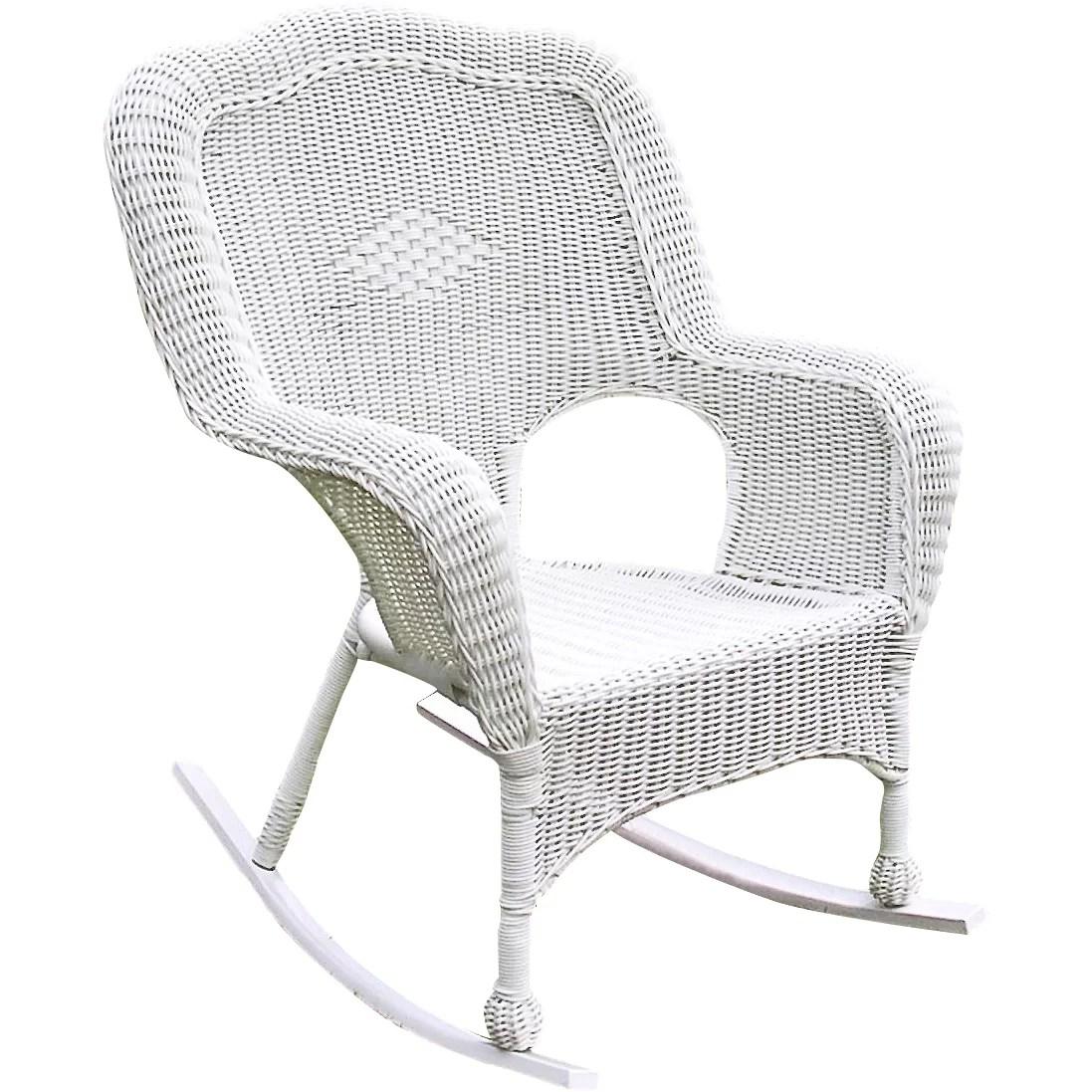 International Caravan Chelsea Outdoor Wicker Resin Patio Rocking Chair  Reviews  Wayfair