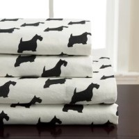 Elite Home Products (Bedding) Winter Nights Scotty Dog ...