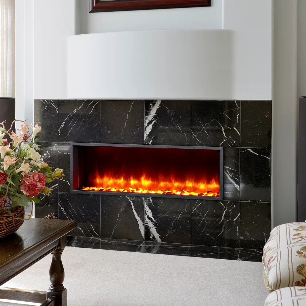 44 Builtin LED Wall Mount Electric Fireplace Insert