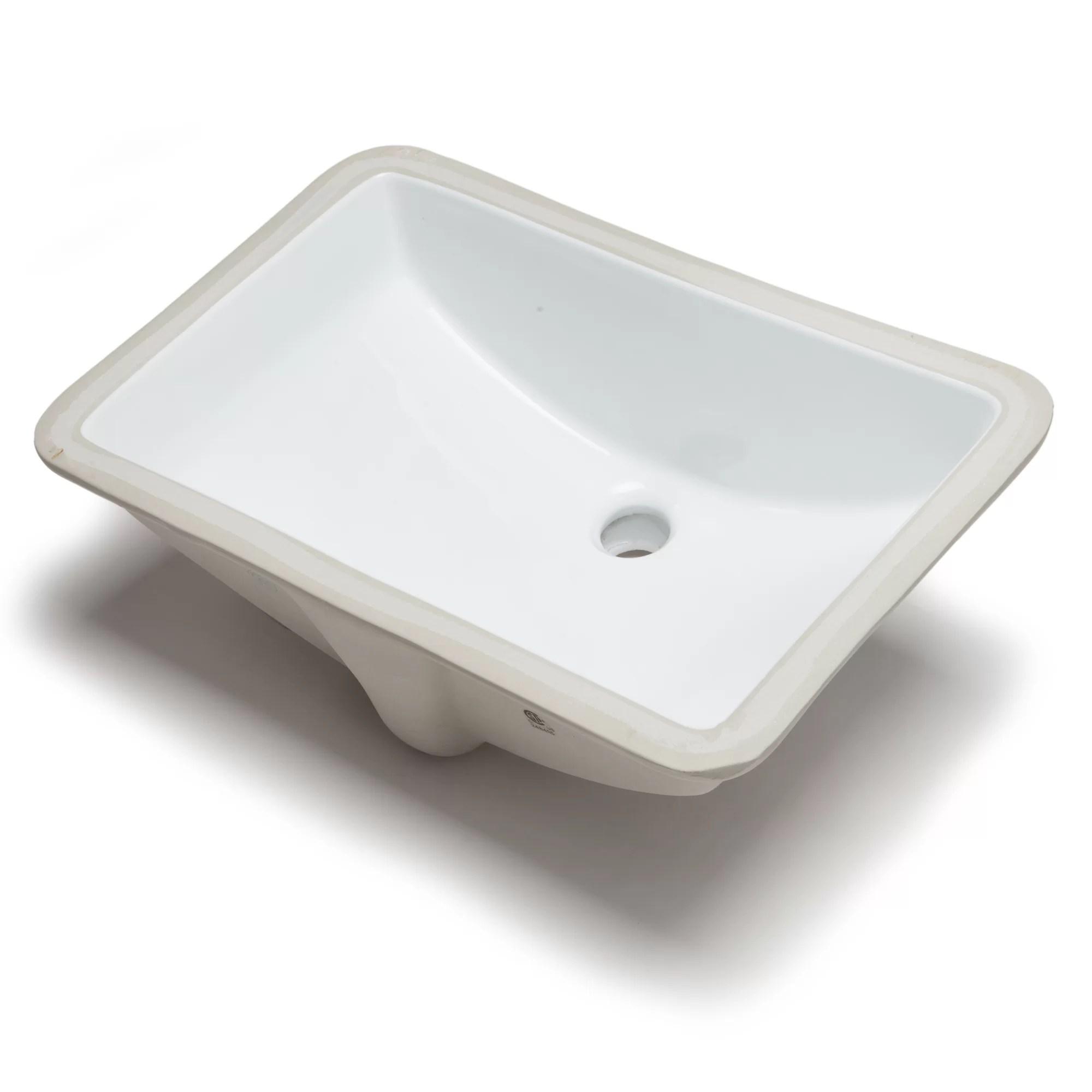 hahn kitchen sinks hutch cabinets ceramic bowl rectangular undermount bathroom sink ...