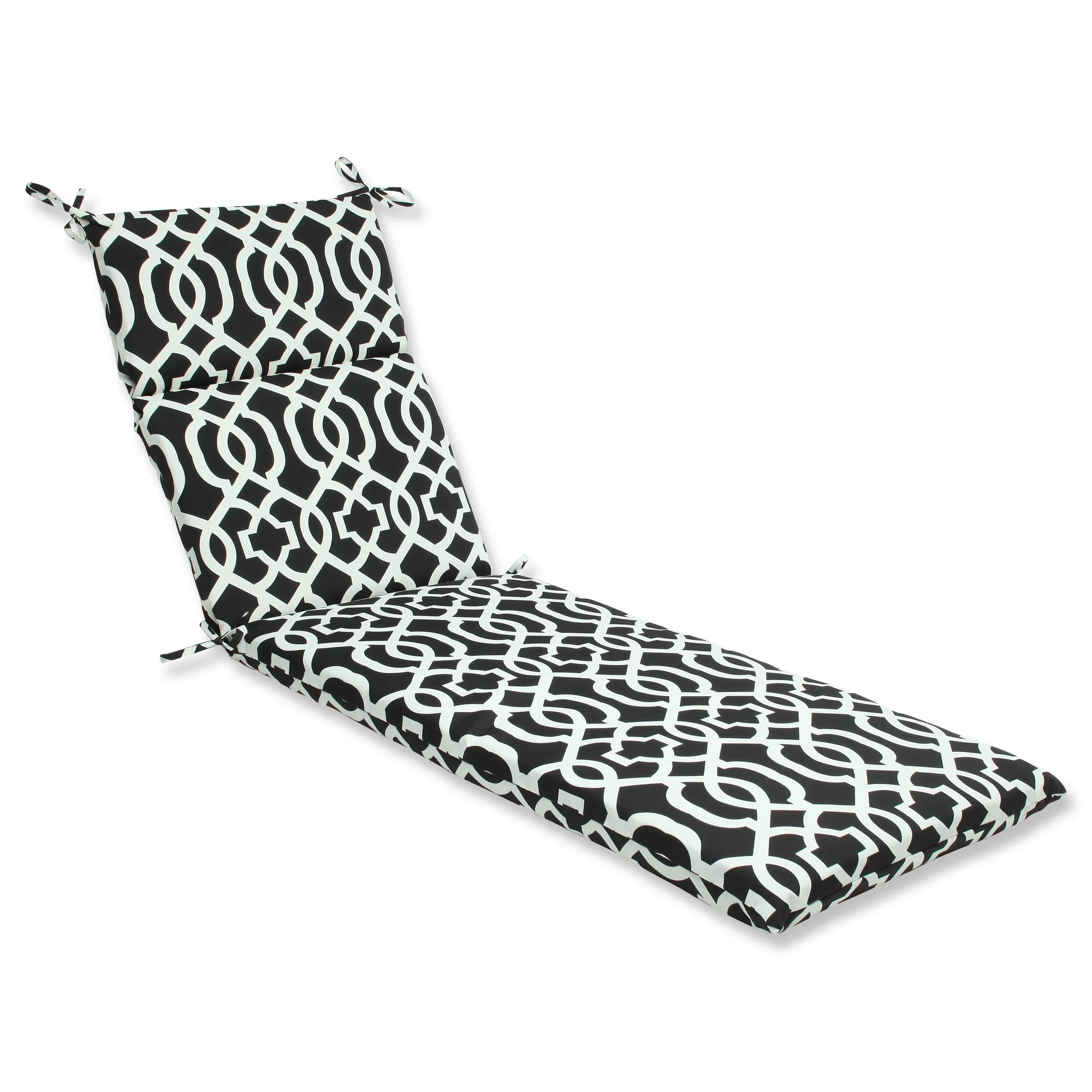Pillow Perfect New Geo Outdoor Chaise Lounge Cushion