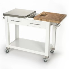 Chris And Kitchen Cart Crosley Steel Cabinets Pro Chef Island With Butcher Block
