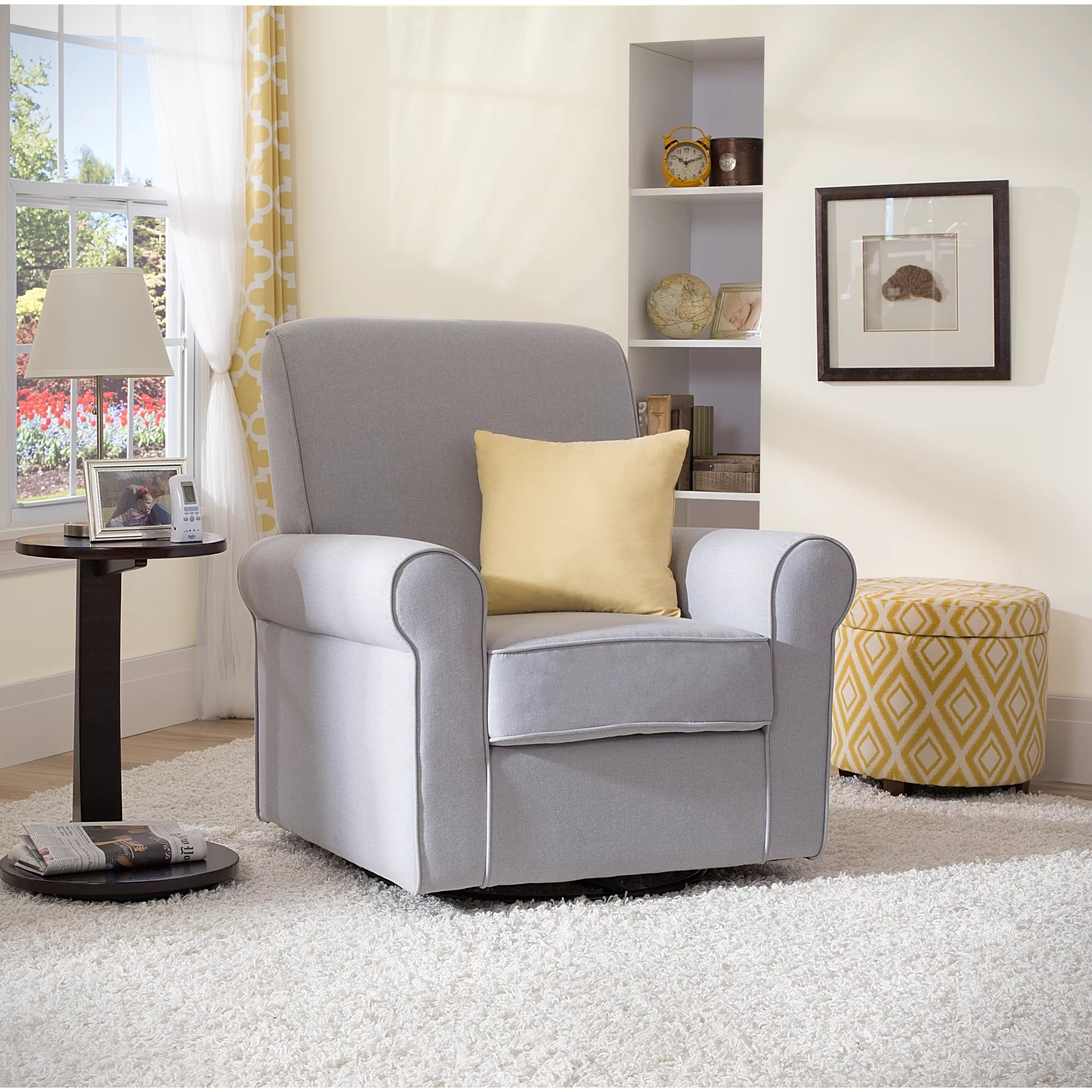 delta avery nursery glider chair grey covers images children swivel and reviews wayfair