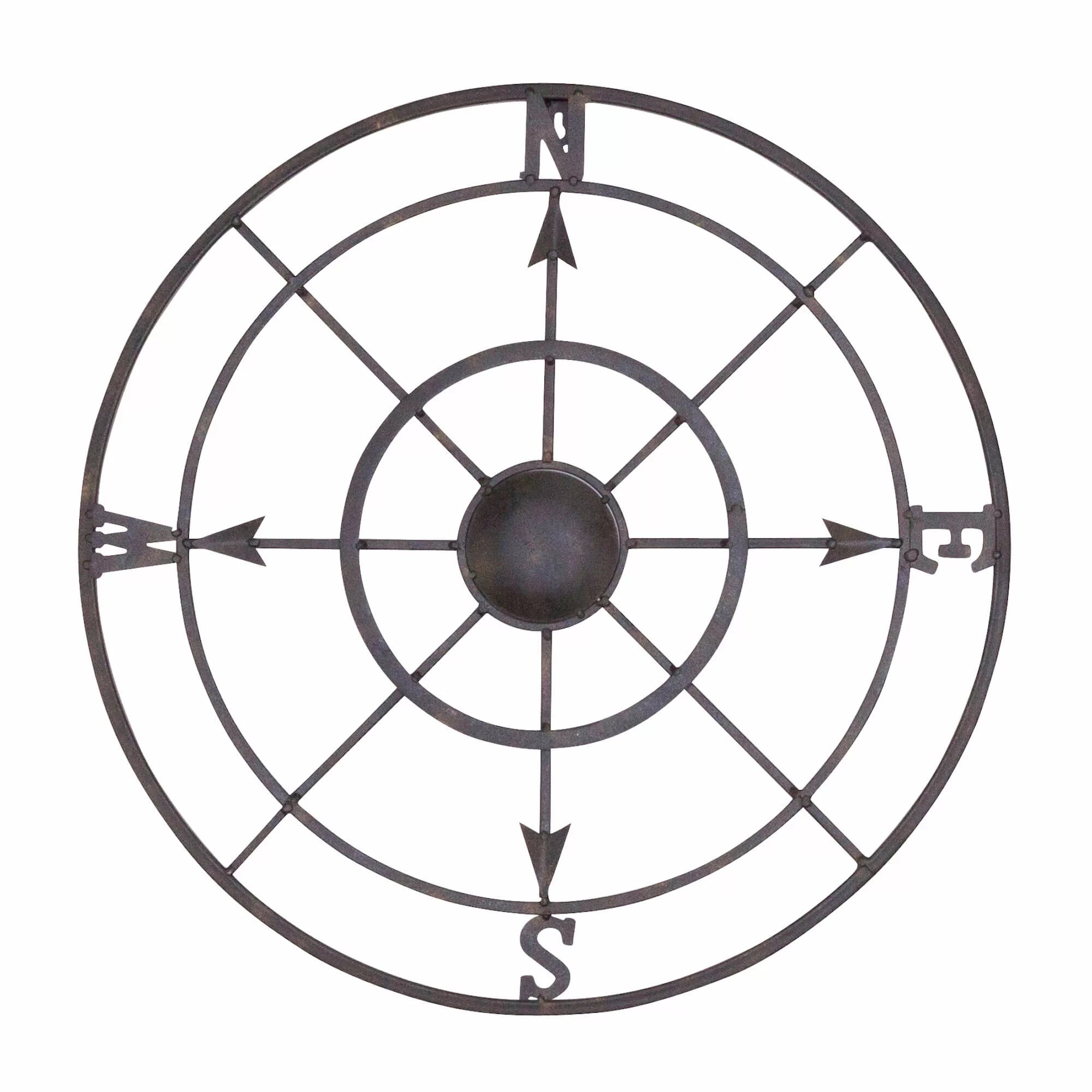 Bayaccents Nautical Metal Compass Rose Wall Decor