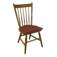 Striped Dining Chair Navy Blue Nursery Rocking Andover Mills Cushion And Reviews