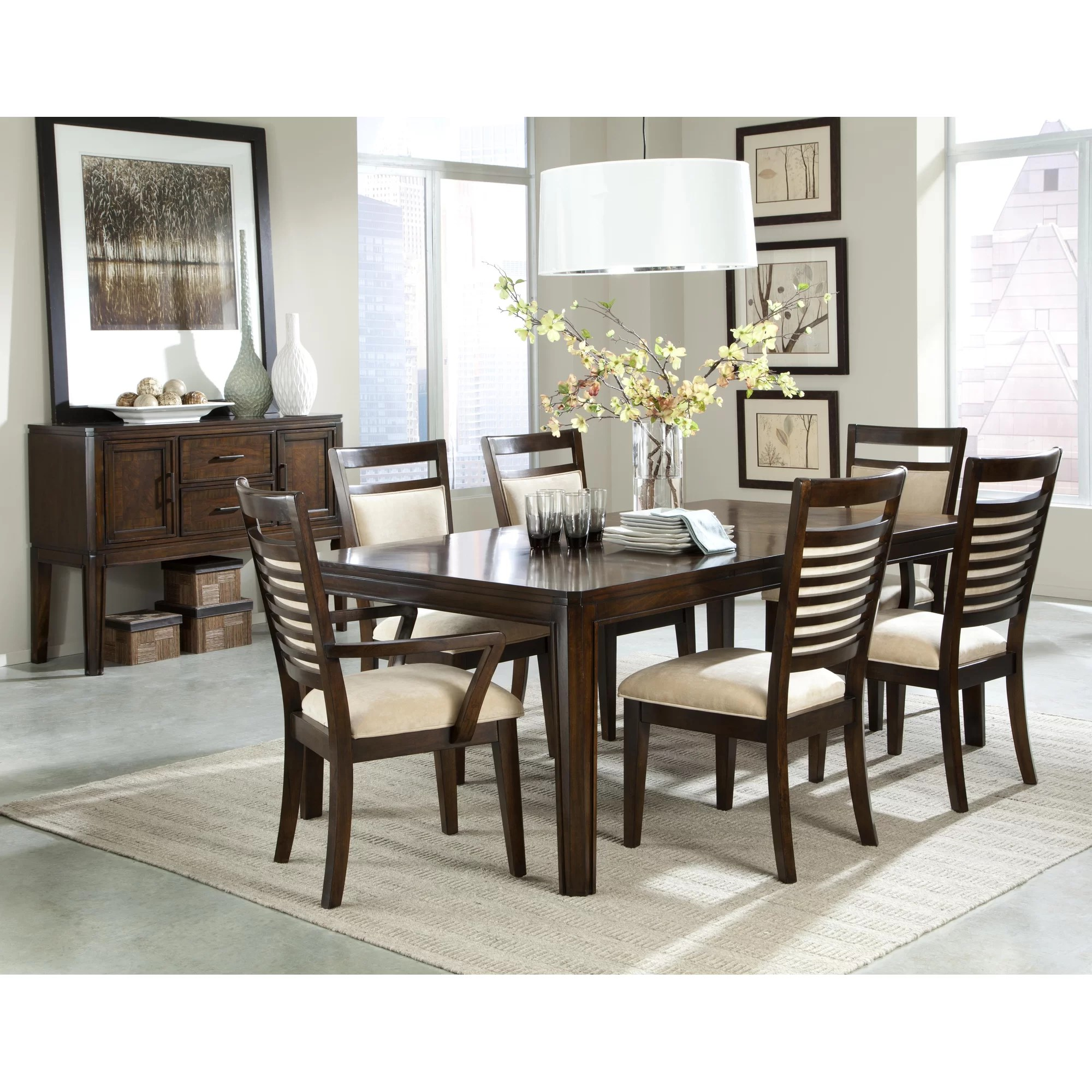steel chair price in bangladesh reclining leather latitude run bellevue 7 pieces dining set and reviews wayfair