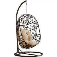 Bay Isle Home Duncombe Egg-Shaped Outdoor Swing Chair with ...