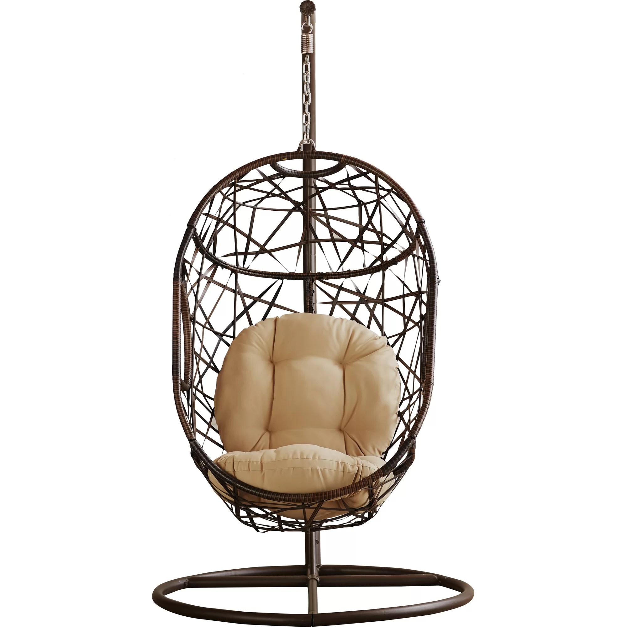 Egg Shaped Chairs Bay Isle Home Duncombe Egg Shaped Outdoor Swing Chair With