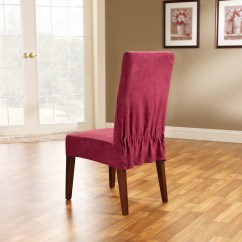 Sure Fit Parsons Chair Slipcovers Dining Table Covers Uk Soft Suede Slipcover And Reviews Wayfair