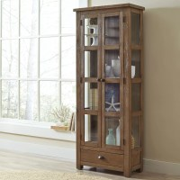 Birch Lane Seneca Solid Pine Curio Cabinet & Reviews ...