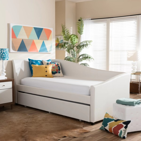 Leather Daybed with Trundle