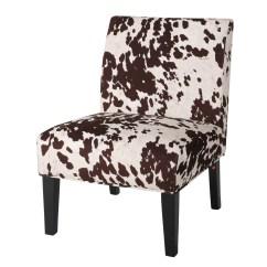 Cowhide Print Accent Chair Skirted Parson Chairs Rita Cow Slipper And Reviews Joss Main