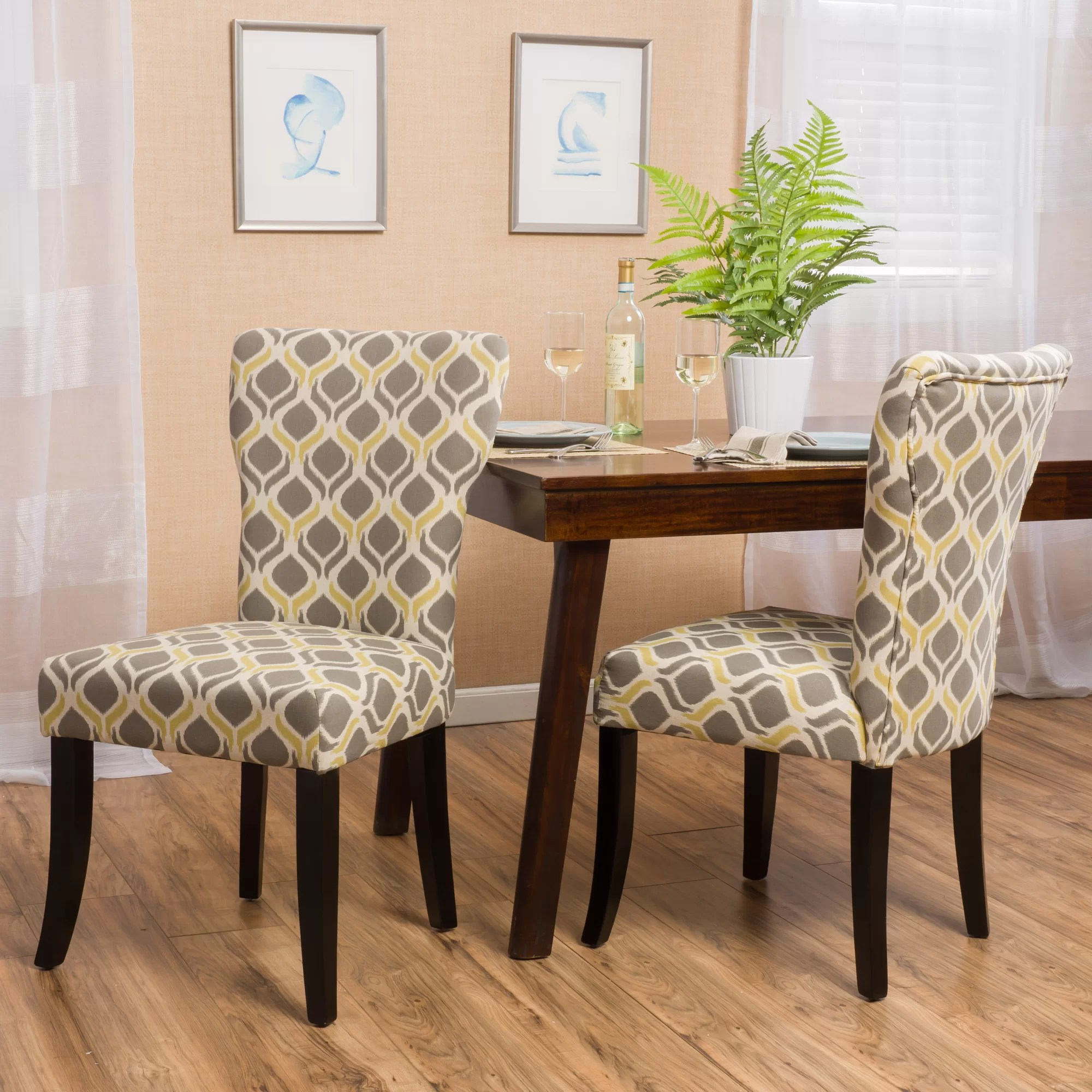yellow parsons chair grey linen sash darby home co thornton and reviews wayfair