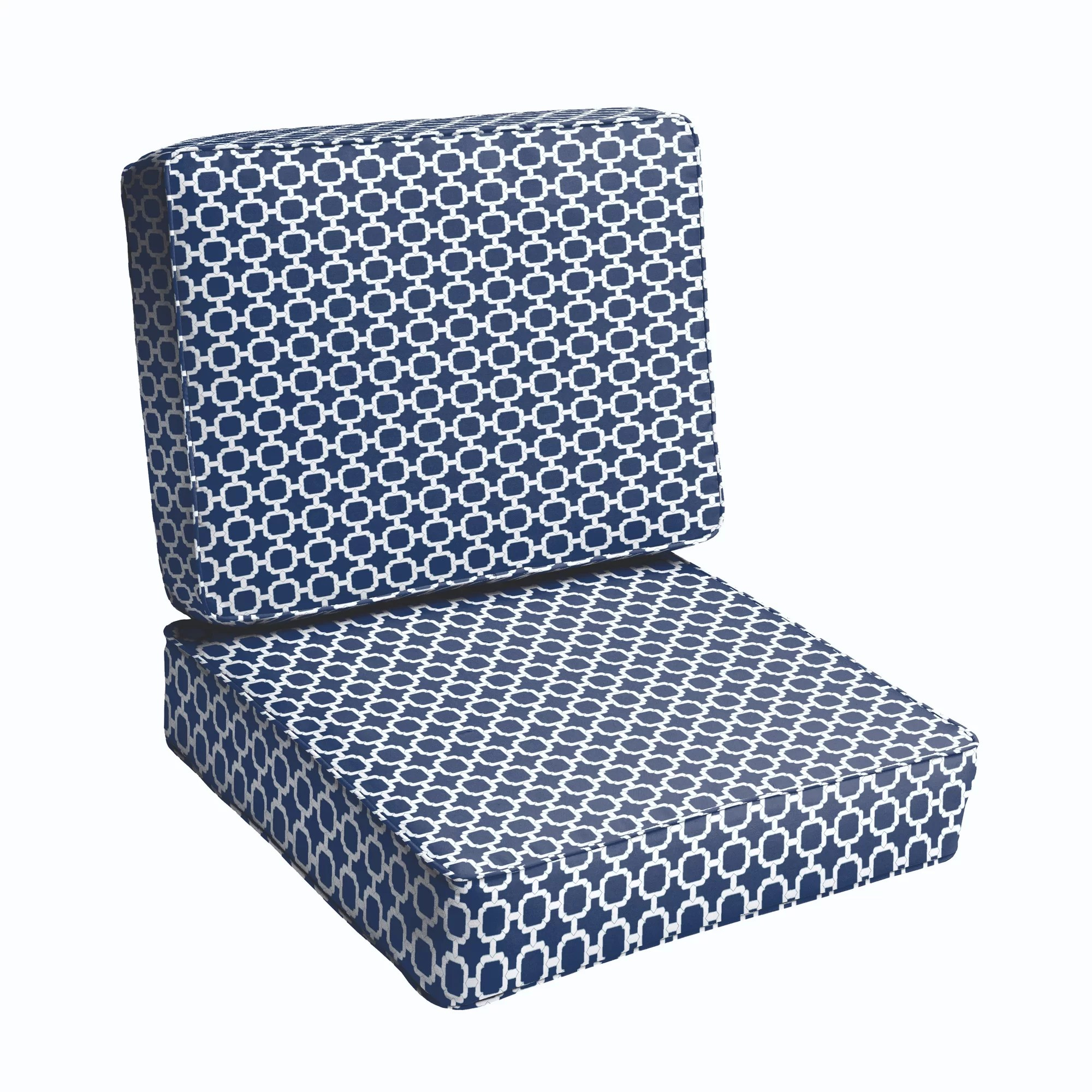 one piece patio chair cushions outdoor sling fabric replacement breakwater bay 2 cushion set and reviews