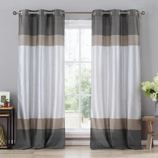 Semi Sheer Grommet Curtain Panels