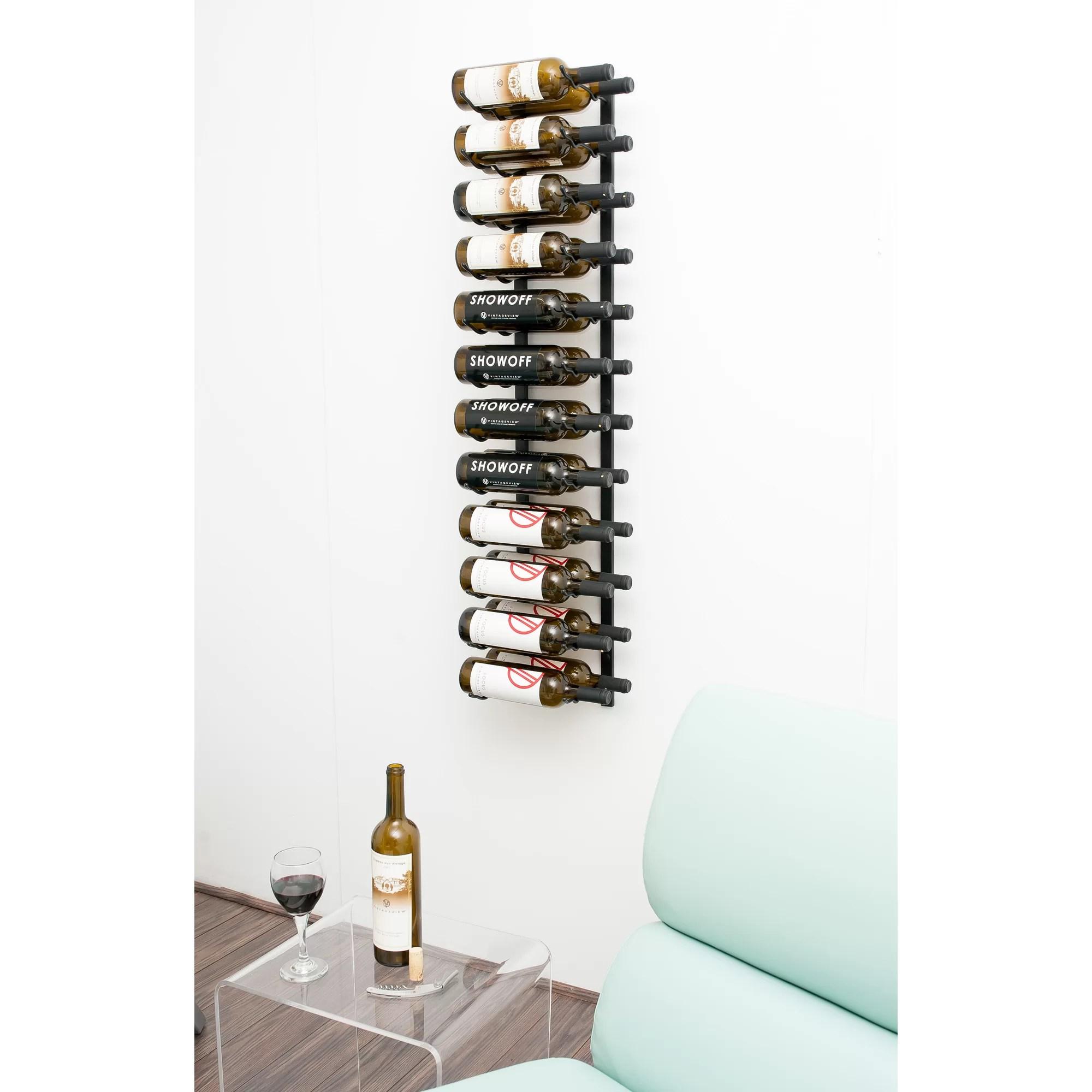 VintageView Wall Series 24 Bottle Wall Mounted Wine Rack  Reviews  Wayfair