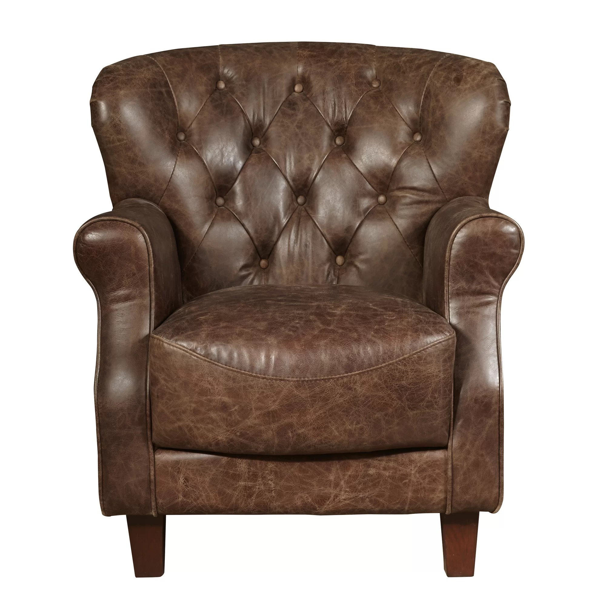 Club Chair Leather Highway Chief Leather Club Chair Wayfair Ca