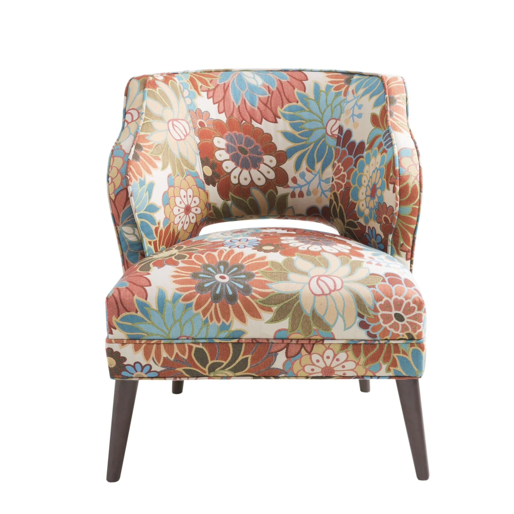 Floral Chairs Latitude Run Nolan Floral Mod Side Chair And Reviews Wayfair
