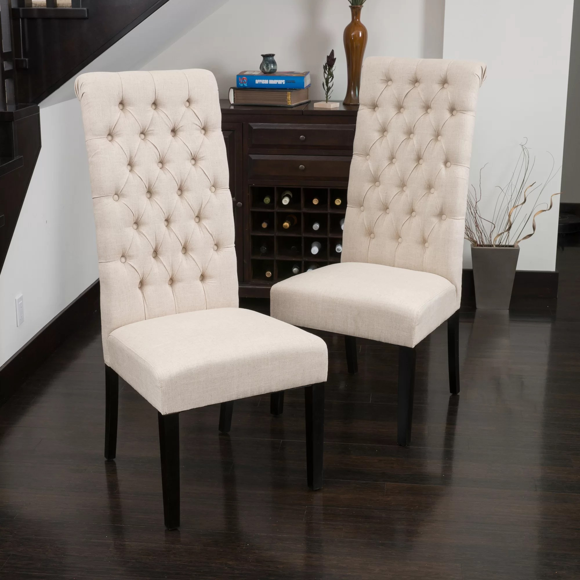 tall dining chairs office chair ebay charlton home estbury tufted upholstered
