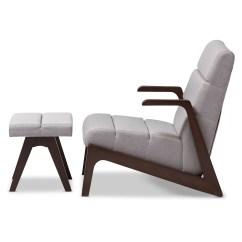 Modern Lounge Chair And Ottoman Set Orange Outdoor Chairs Lazzaro Mid Century