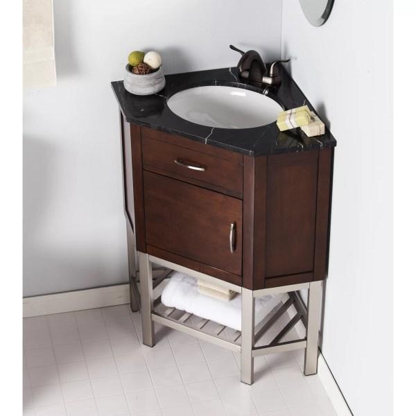 "Andover Mills Dupont Corner 33"" Single Bathroom Vanity Set"