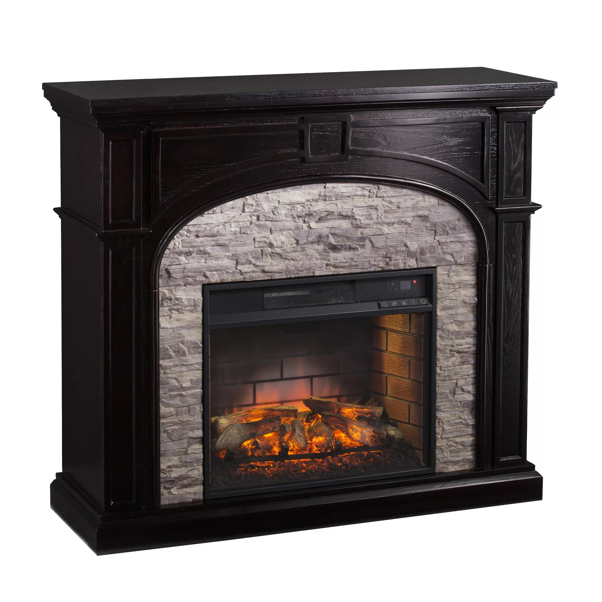 Three Posts Boylston Stacked Infrared Electric Fireplace  Reviews  Wayfair