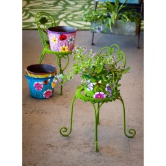 Chair Planter Stand Inexpensive Desk Chairs August Grove Star 2 Piece Plant Set And Reviews
