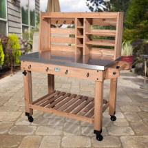 Backyard Discovery Cedar Bar Serving Cart &
