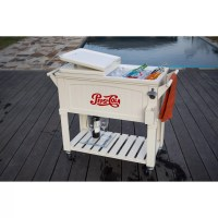 Permasteel 80 Qt. Pepsi Antique Patio Rolling Cooler ...