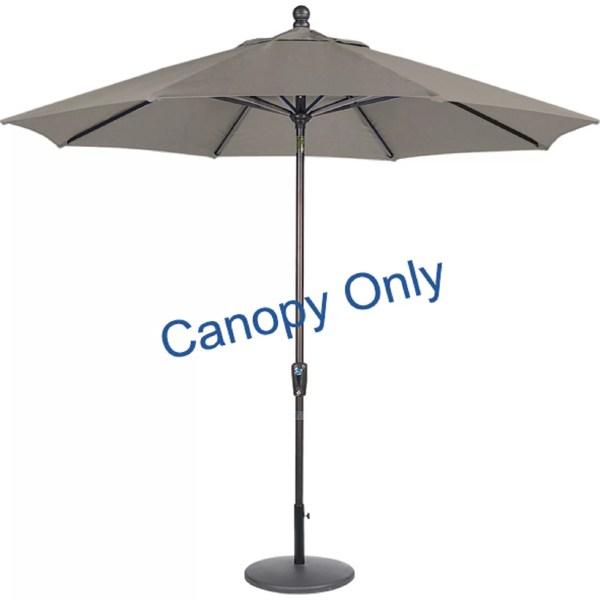 Amauri Outdoor Living 9' Sunbrella Replacement Canopy Market Umbrella &