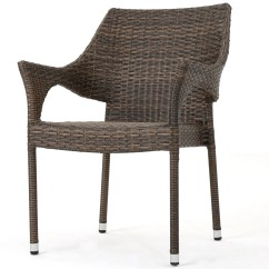 Wicker Patio Chair Set Of 2 Outdoor Dining Chairs Australia Wade Logan Abby Stacking Arm