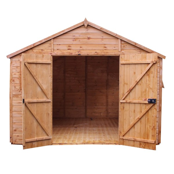 Mercia Garden Products 12 X 10 Wooden Shiplap Storage Shed &