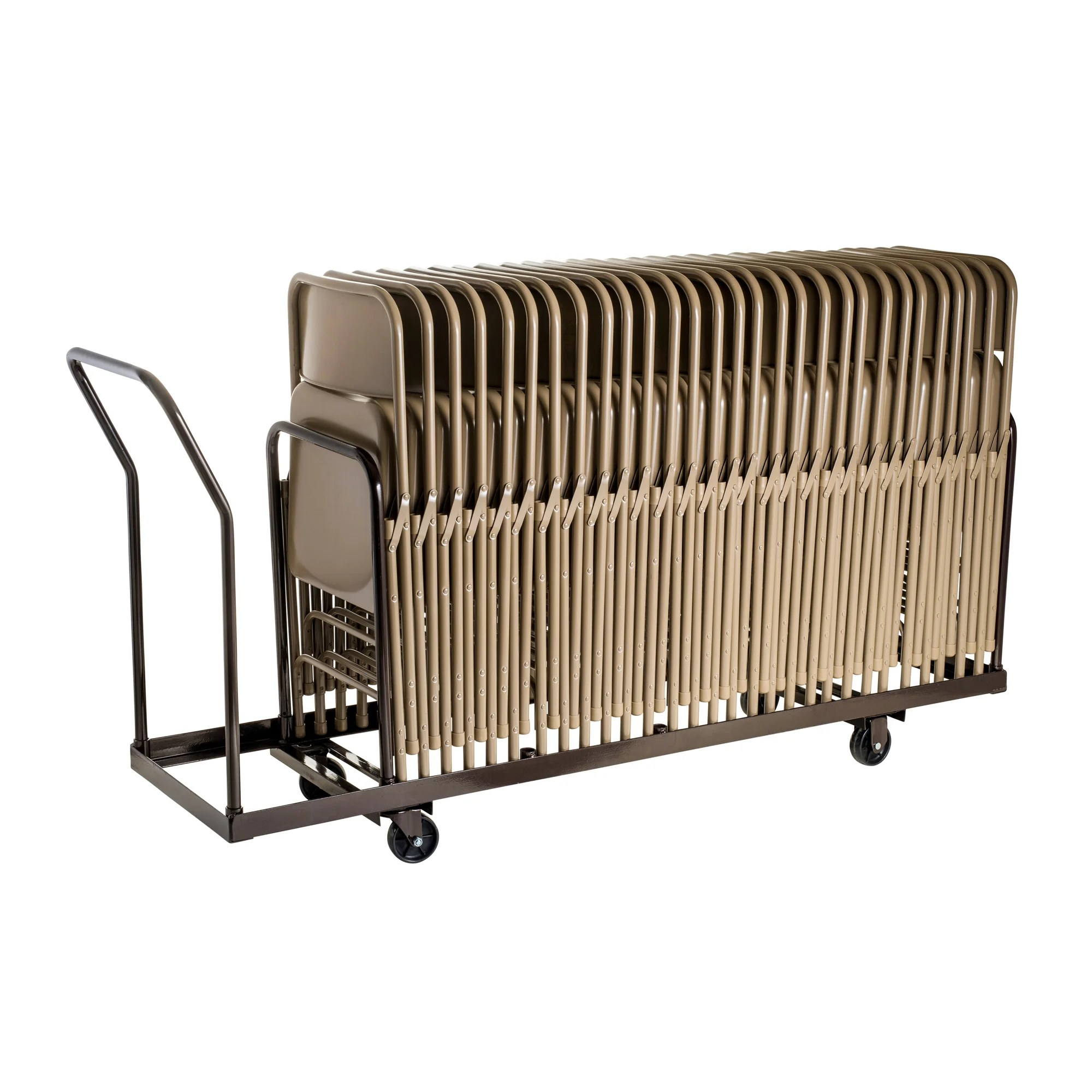 folding chair cart covers for chairs rent national public seating dolly and reviews