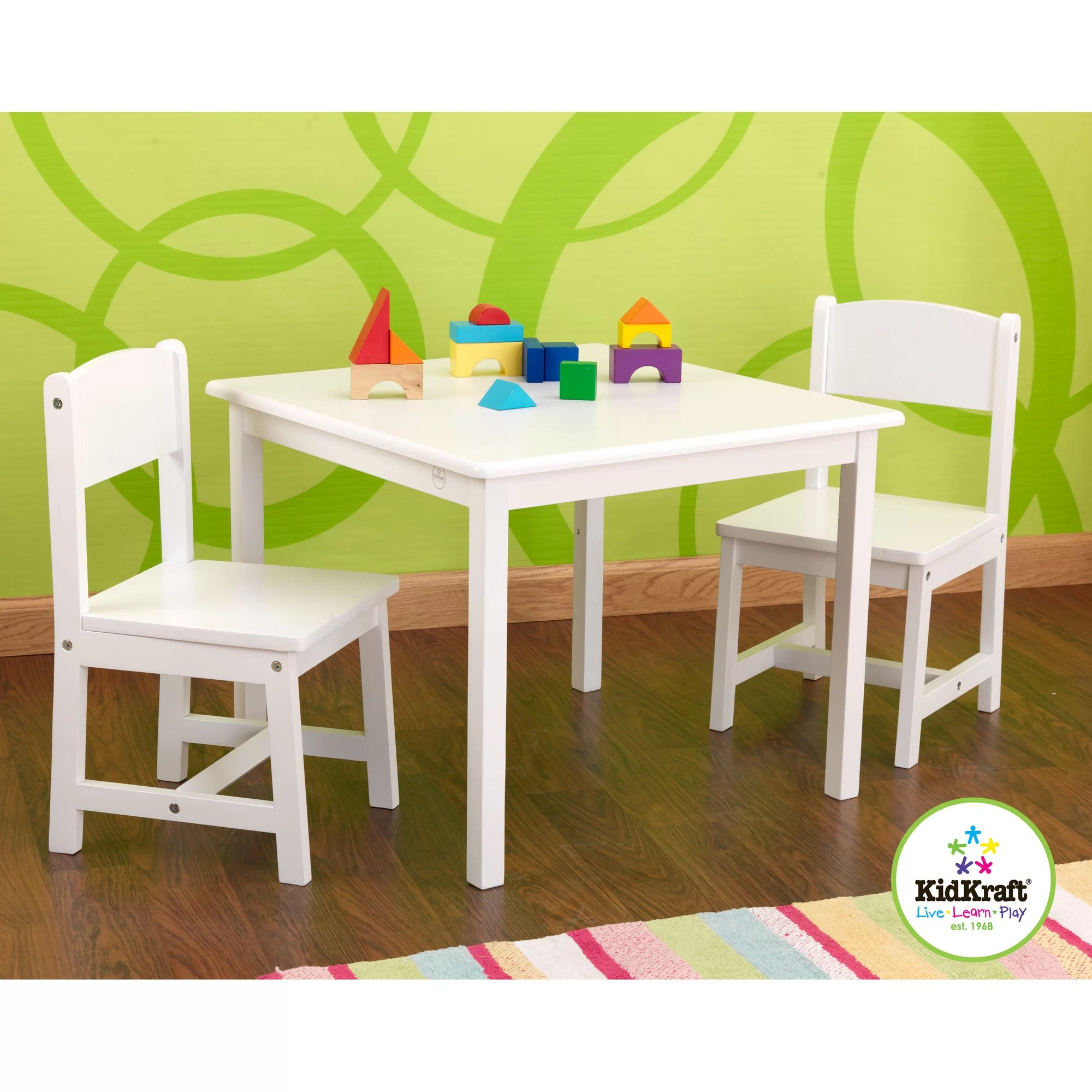 Kidkraft Heart Table And Chair Set Kidkraft Personalized Aspen Kids 39 3 Piece Table And Chair