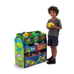 Ninja Turtle Chair Toys R Us Brown Dining Room Chairs Delta Children Turtles Multi Bin Storage Organizer