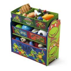 Ninja Turtle Chair Toys R Us Dining Room Covers High Back Delta Children Turtles Multi Bin Storage Organizer