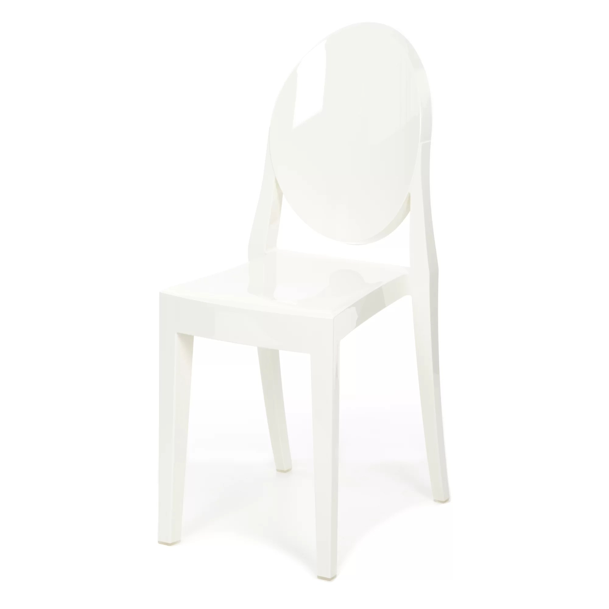 ghost side chair rustic metal kitchen chairs victoria and reviews allmodern