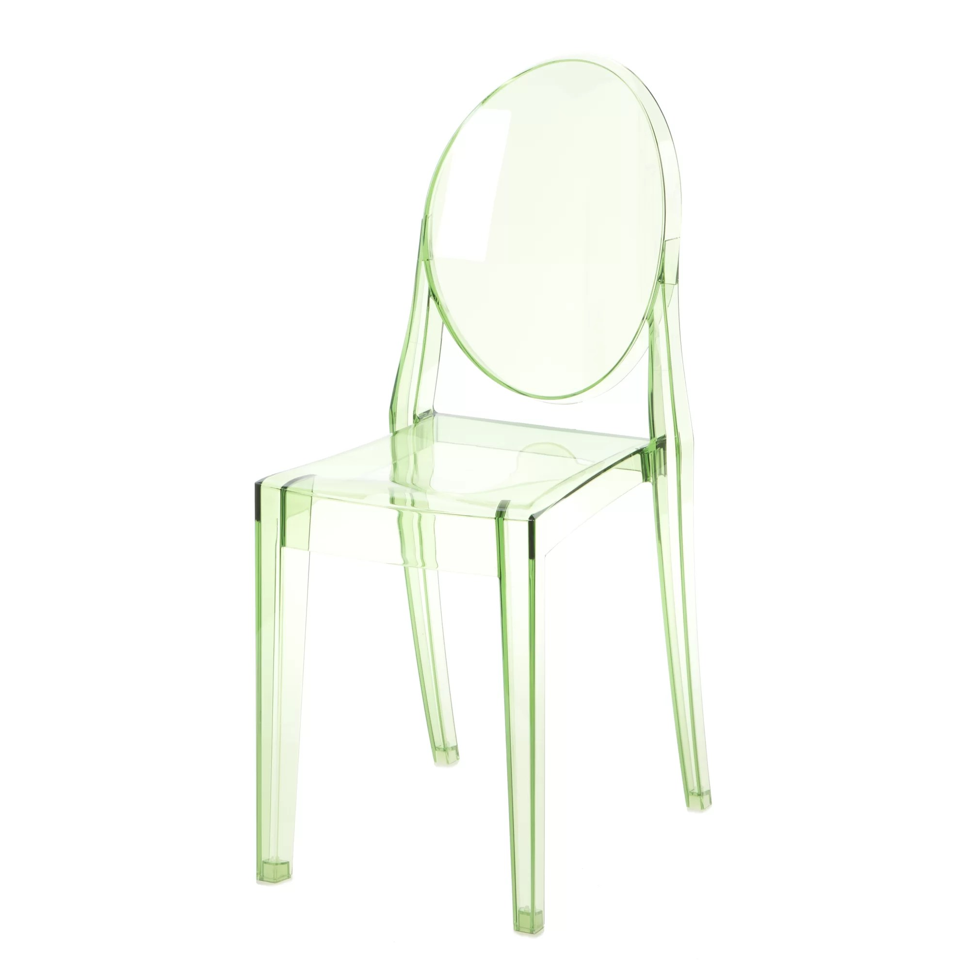 ghost side chair shower tub bench with back victoria and reviews allmodern