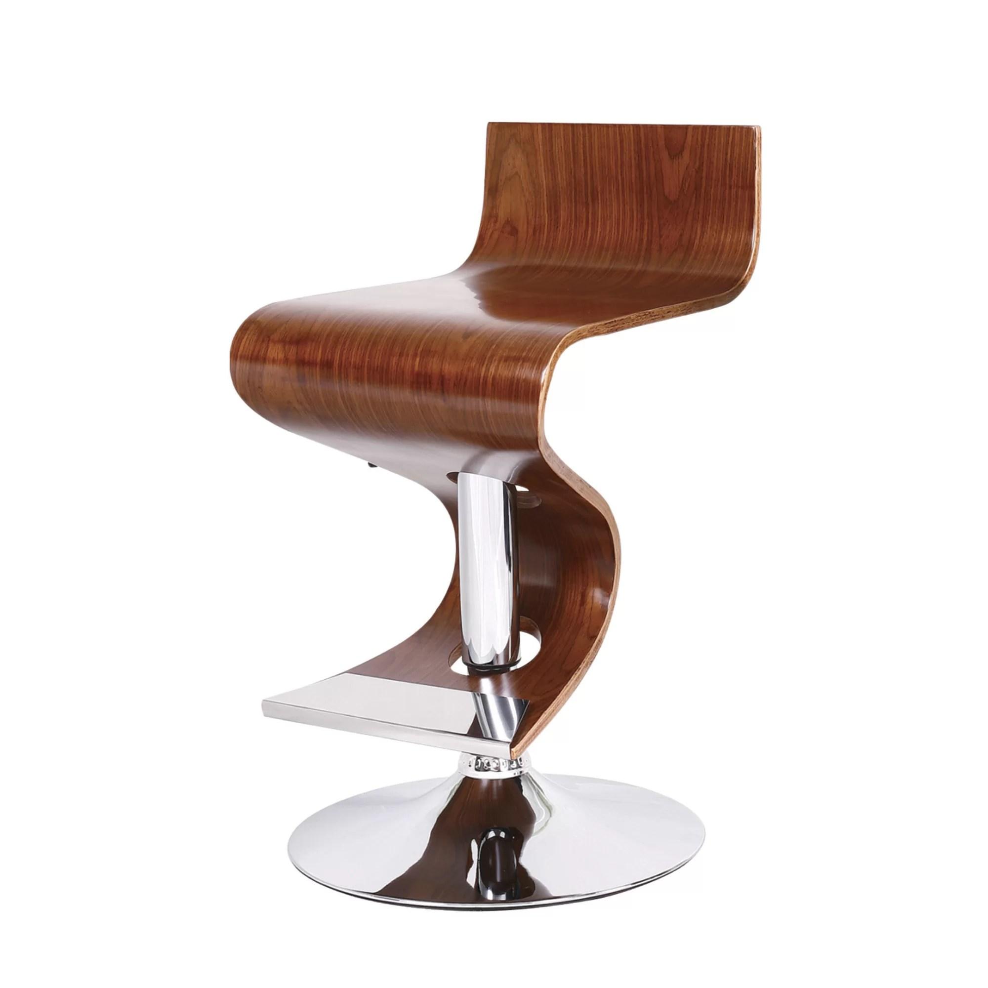 purist kitchen faucet counter ideas adjustable height swivel bar stool & reviews | allmodern