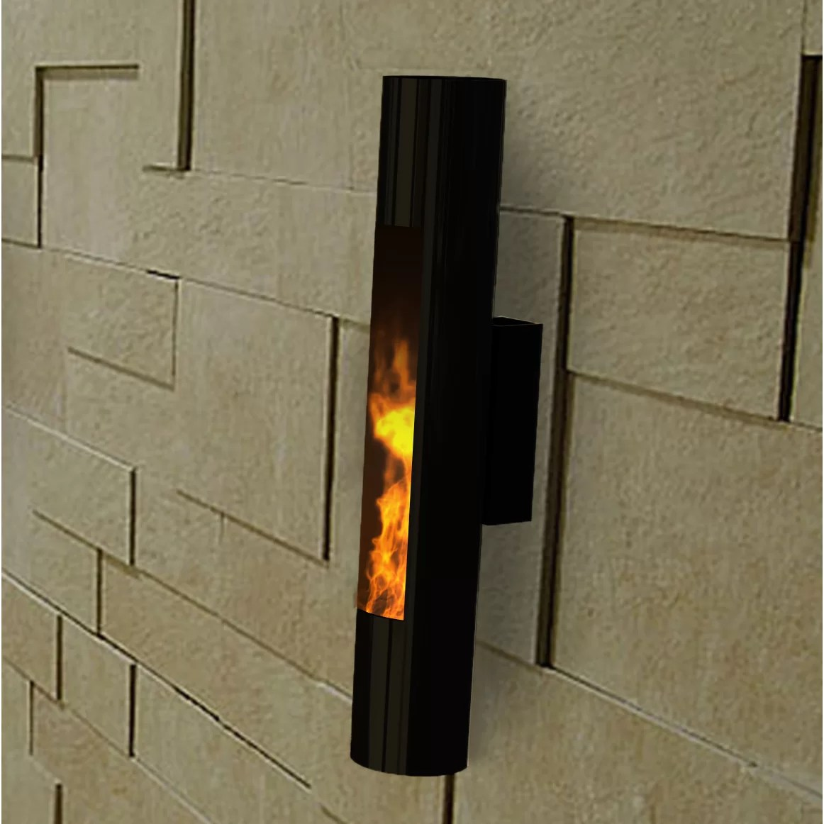 Wall Sconce Lighting Indoor Lumin Sconce Wall Mounted Bio-ethanol Fireplace & Reviews