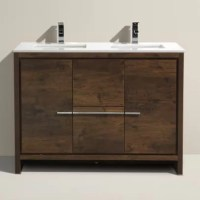 """Mercury Row Bosley 48"""" Double Modern Bathroom Vanity Set ..."""