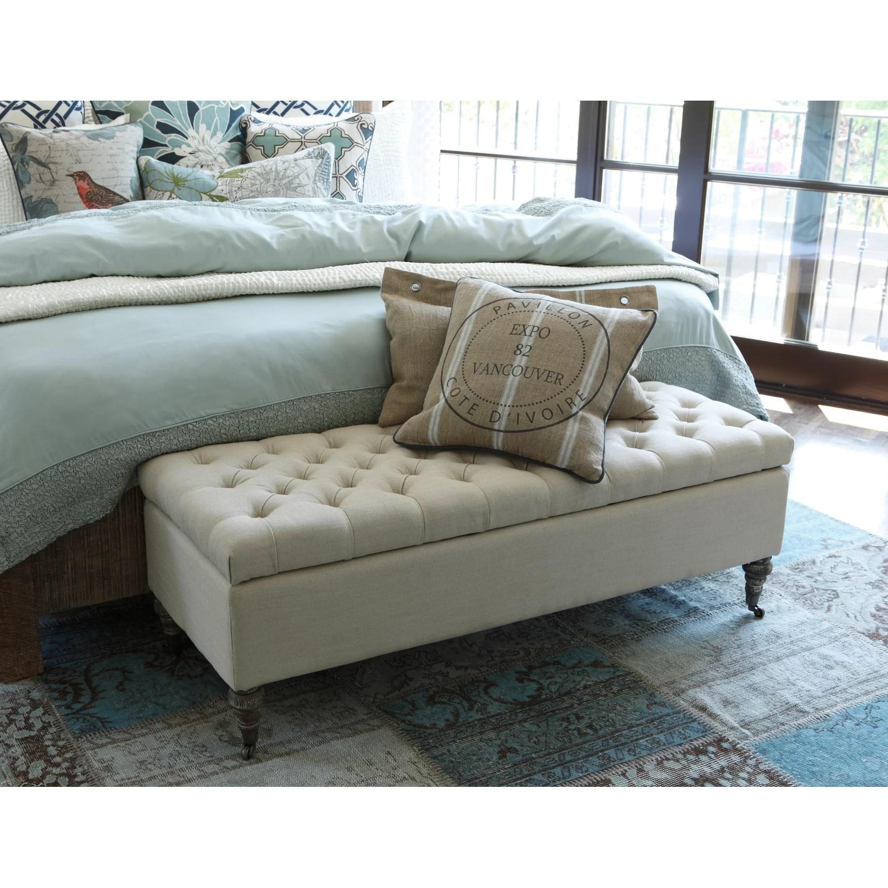 Kosas Home Fabric Storage Bedroom Bench  Reviews  Wayfair