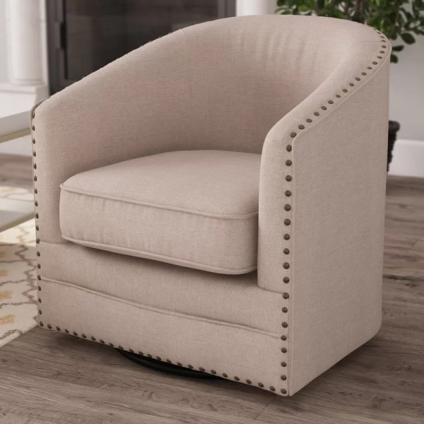 Latitude Run Chira Classic Retro Upholstered Barrel Chair